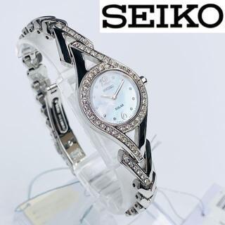 SEIKO - 【即完売商品】スワロフスキーダイヤ SEIKOセイコー 新品 腕時計 ソーラー