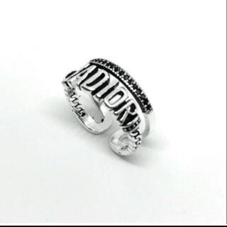 Dior - ♯8 JADIOR 英字 アンティーク 加工 ユニセックス シルバー リング