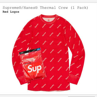 Supreme - Supreme®/Hanes® Thermal Crew (1 Pack)赤