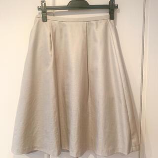 ナチュラルビューティーベーシック(NATURAL BEAUTY BASIC)のNatural Beauty Basic ライトグレー 膝丈スカート(ひざ丈スカート)