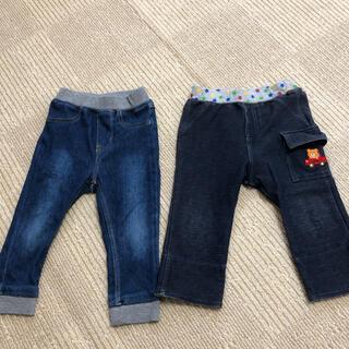 ホットビスケッツ(HOT BISCUITS)のデニム風 パンツ 2枚セット(パンツ)