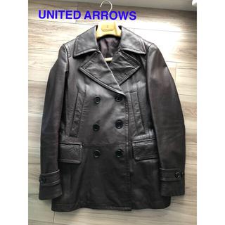 ユナイテッドアローズ(UNITED ARROWS)のUNITED ARROWS  (美品)メンズ 革ジャケット ブラウン(レザージャケット)