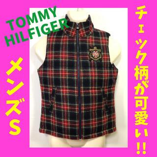 トミーヒルフィガー(TOMMY HILFIGER)のトミーヒルフィガー ベスト チェック柄 S メンズ レディース(ベスト)