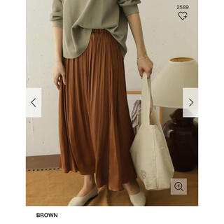 DOORS / URBAN RESEARCH - DOORS とろみサテンギャザースカート