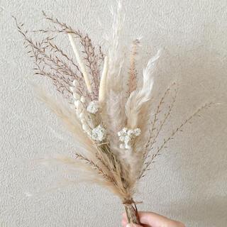 穂と小花のミニブーケ  ecru