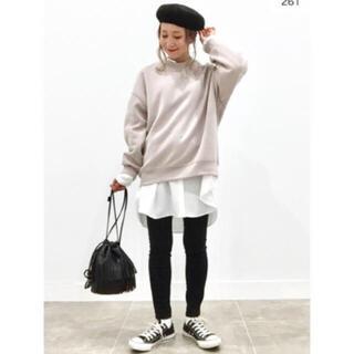 IENA - ★今期新品 タグ付き GU ジーユー 美シルエット バンドカラーロングシャツ
