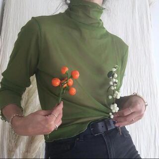 Lochie - Green sheer tops