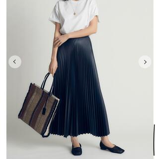 Mila Owen - ミラオーウェンのフェイクレザープリーツマキシスカート