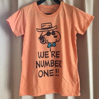 UNIQLO - ユニクロ UNIQLO 半袖Tシャツ オレンジ スヌーピー UT タグ付き