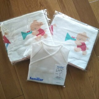 familiar - familiar🧸短肌着&バスタオル