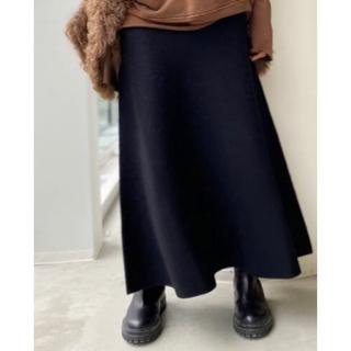 L'Appartement DEUXIEME CLASSE - 新品☆L'Appartement Knit Long Skirt ブラック 38