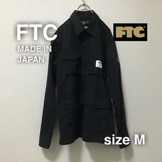 エフティーシー(FTC)のFTC ミリタリージャケット M ブラック 黒 スケートボード 日本製(ミリタリージャケット)