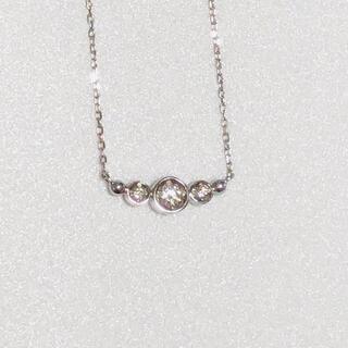 ソフィアコレクション(Sophia collection)のbijou Sophia ダイヤモンドネックレス k10WG(ネックレス)