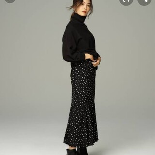 トッコ(tocco)のノスタルジアドットマーメイドスカート黒M(ロングスカート)