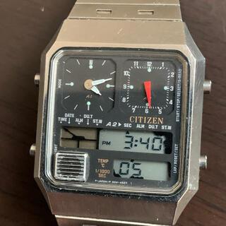 CITIZEN - シチズン アナデジテンプ  シルバー CITIZEN  デジアナ 腕時計