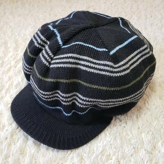 バーバリーブルーレーベル(BURBERRY BLUE LABEL)のバーバリー・ブルーレーベル ニットキャスケット 帽子 黒 (キャスケット)