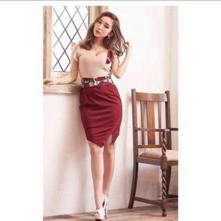 dazzy store - スカーフ柄バイカラータイトミニドレス