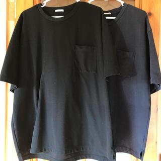 GU - 2枚セット 半袖 Tシャツ ジーユー 黒 紺 LL XL メンズ 厚手 2枚組