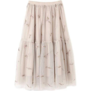 PROPORTION BODY DRESSING - EDIT COLOGN☆フラワー刺繍ティアードスカート チュールスカート