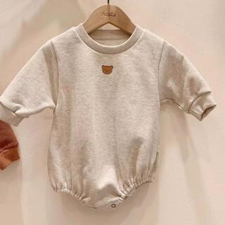 【ラスト1点】韓国子供服 くまロンパース