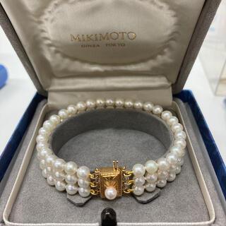 MIKIMOTO - ミキモト 3連ブレスレット パール