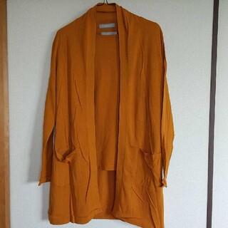 dinos - 【送料込】DAMA 洗えるシルクニット アンサンブル オレンジ色  Mサイズ