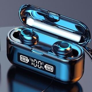 最新LCDディスプレイ付ワイヤレスイヤホンBluetoothタッチ式