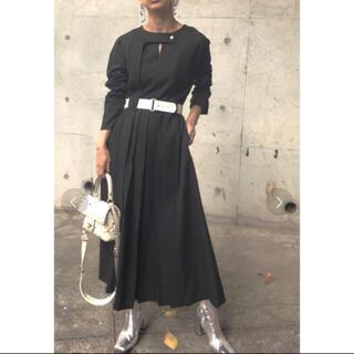 Ameri VINTAGE - ameri  BELTED TUCK PLEATS DRESS