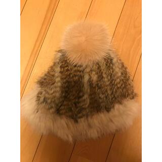 ユナイテッドアローズ(UNITED ARROWS)のラビットファー ポンポン付き帽子(ニット帽/ビーニー)