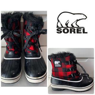 ソレル(SOREL)のソレル チボリ レッドギンガムチェック ブーツ(ブーツ)