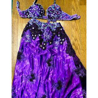 HANANのベリーダンス衣装!紫色(衣装一式)