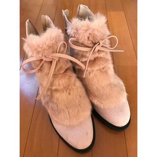 フォーエバートゥエンティーワン(FOREVER 21)のForever21 靴 ブーツ ファーブーツ レディース ヒール 厚底(ブーツ)