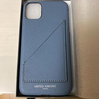 ユナイテッドアローズ(UNITED ARROWS)のUNITED ARROWSマイクロファイバー I PHONE11 ケース ブルー(iPhoneケース)