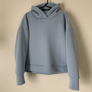 アダムエロぺ(Adam et Rope')のアダムエロペ ダンボールパーカー hoodie ブルー(パーカー)