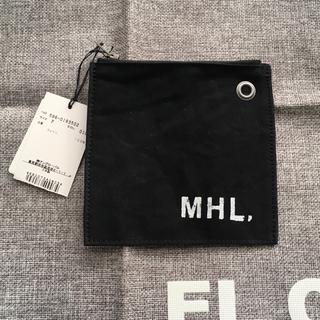 マーガレットハウエル(MARGARET HOWELL)の即購入ok 未使用 MHL パスケース ポーチ ブラック(ポーチ)