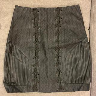ステューシー(STUSSY)のStussy レザースカート(ミニスカート)