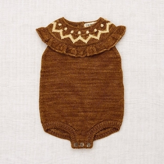 Caramel baby&child  - ZigZag Ruffle Romper  NutmegMisha&Puff