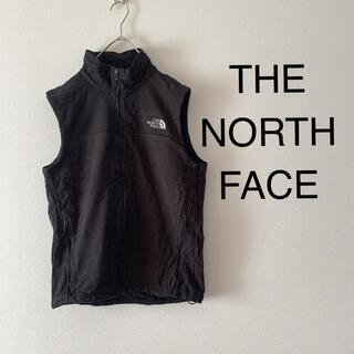 THE NORTH FACE - USA古着 ザノースフェイス 刺繍ロゴ フリースベスト 裏起毛