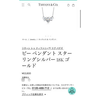 Tiffany & Co. - オンライン完売 ティファニー  ラブ バグズ ビー ペンダント18K✖️シルバー