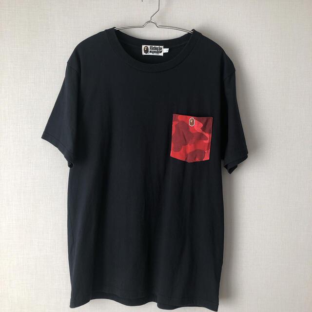 A BATHING APE(アベイシングエイプ)の【即日発送】APE  半袖tシャツ  サイズL  ポケT メンズのトップス(Tシャツ/カットソー(半袖/袖なし))の商品写真