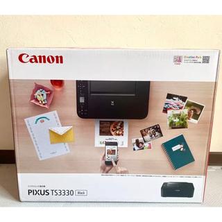 Canon - 保証書在中☆未開封新品プリンター 本体 複合機 インク TS3330BK