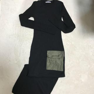 ZARA - ZARA ポケット付きマキシニットワンピ