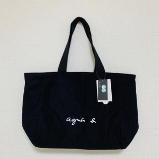 agnes b. - 【L】アニエスベー トートバッグ A4 大容量 キャンパス ブランド ロゴトート