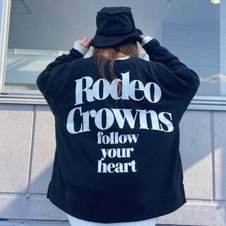 ロデオクラウンズワイドボウル(RODEO CROWNS WIDE BOWL)の【着払い】ブラックRX(トレーナー/スウェット)
