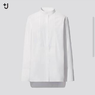 UNIQLO - 未使用:タグ付き:ユニクロ/+J/スーピマコットンタックシャツ/白/S