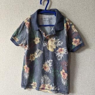 ザラキッズ(ZARA KIDS)のZARA/110 ボタニカル柄 アロハ/ポロシャツ(Tシャツ/カットソー)