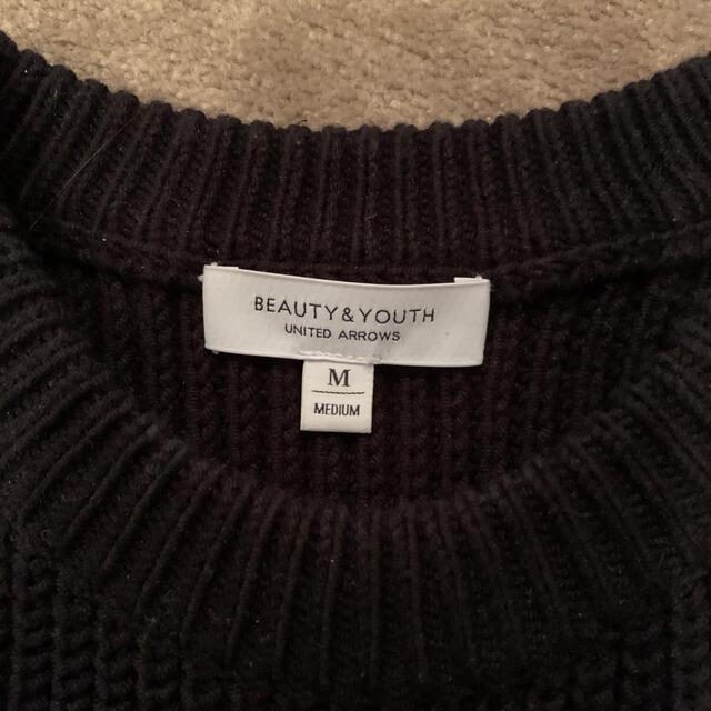 BEAUTY&YOUTH UNITED ARROWS(ビューティアンドユースユナイテッドアローズ)のBEAUTY AND YOUTH コットンニット メンズのトップス(ニット/セーター)の商品写真