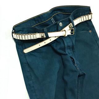 ジョンローレンスサリバン(JOHN LAWRENCE SULLIVAN)のWhite Leather Design Belt(ベルト)