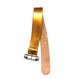 アズディンアライア(Azzedine Alaïa)の0 POR OZBEK Metallic Wide Leather Belt(ベルト)