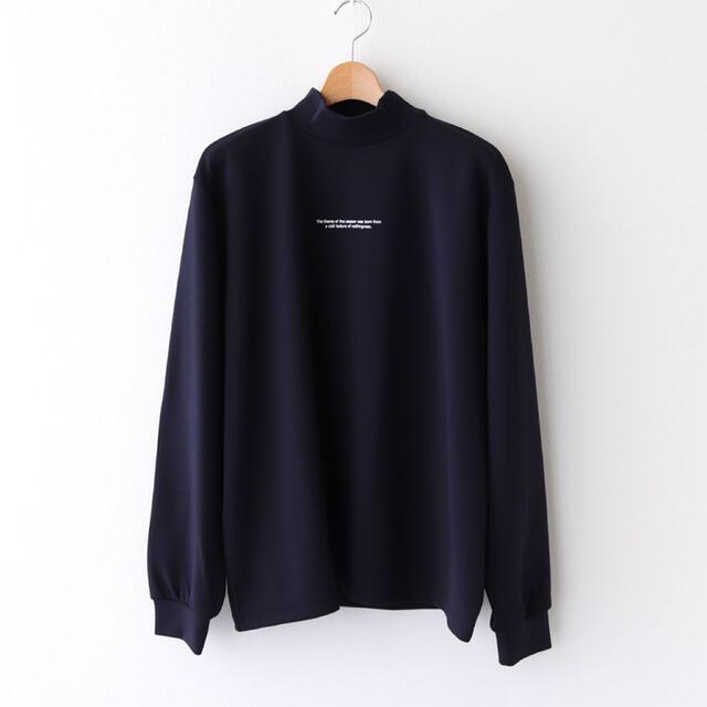 SUNSEA(サンシー)の【stein】シュタイン OVERSIZED HIGH NECK LS ネイビー メンズのトップス(Tシャツ/カットソー(七分/長袖))の商品写真